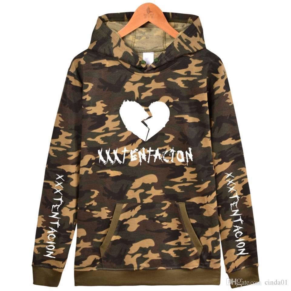 Acheter Camouflage XXXTentacion Imprimé Hommes Designer Hoodies Casual  Sweat À Capuche Hiver Homme Hip Hop Designer Pullover Livraison Gratuite De  $37.57 Du