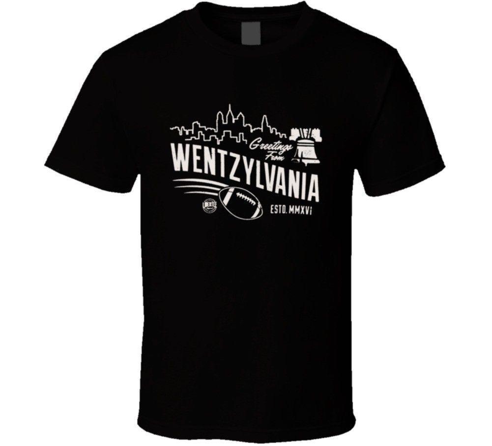 e7dcba4df16 Carson Wentz Philadelphia Eagles Quarter Back Wentzylvania Football T Shirt  Long Sleeve Shirts Men Shirts From Lijian55, $12.08| DHgate.Com