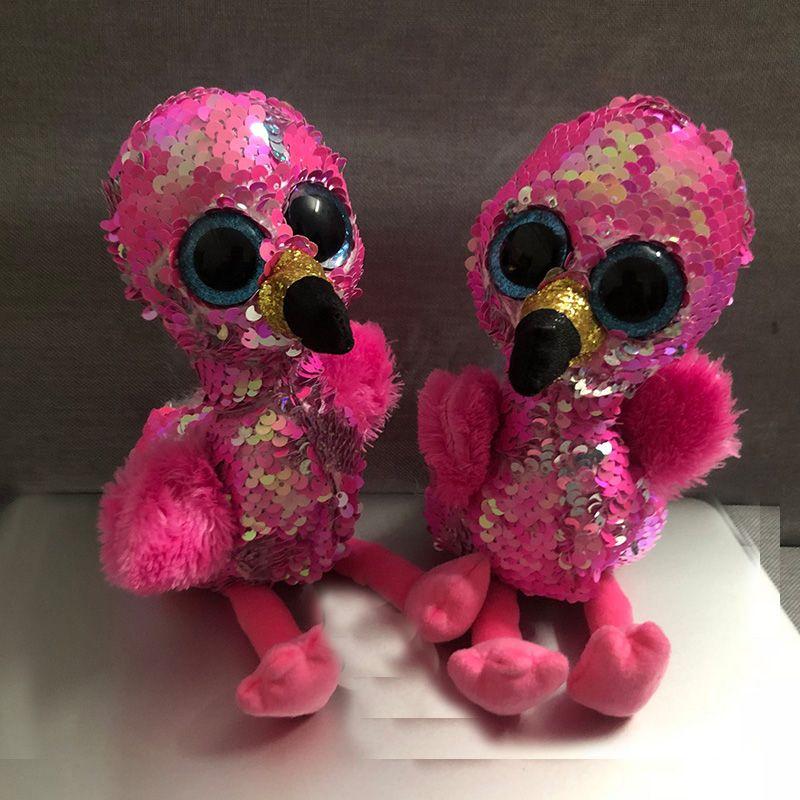 TY Beanie Boos 15cm Gilda Pink Flamingo Dog Olw Fox Plush Toys Big Eyes  Eyed Stuffed Animal Soft Toy Kids Gift UK 2019 From Cover3085 543dfdb8a31