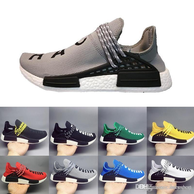 64c6d24ef5027 With Box 2018 NMD Human Race TR Men Running Shoes Pharrell Williams Nmds Human  Races Pharell Williams Mens Womens Trainers Sports Sneakers 3 Hoka Running  ...