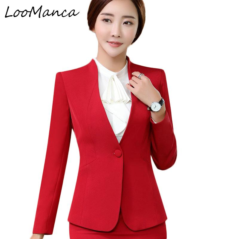 58a48ab8de3dc Professional blazers women OL formal long sleeve v neck suit jackets office  ladies plus size work wear uniform blazer