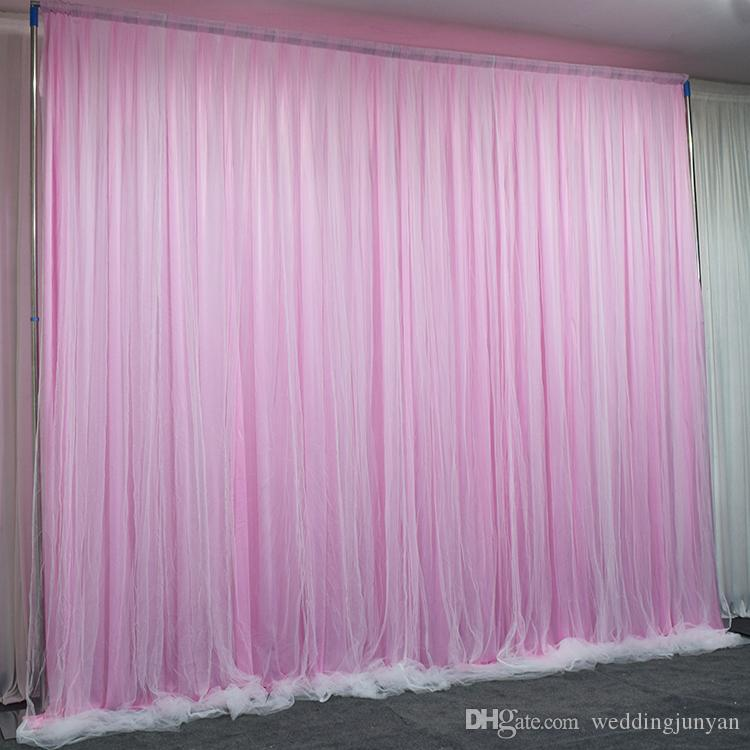 customize wedding arch drape Sash with ice silkCurtain Wedding Decoration Backdrop Hanging Curtains Birthday Party Decoration