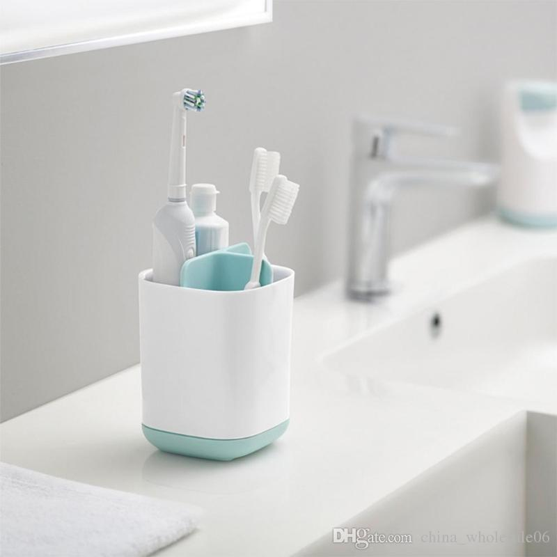 . Bathroom Toothbrush Holder Storage Rack Toilet Toothpaste Gargle Organizer  products Wall Mount Rack Bath set Toothpaste