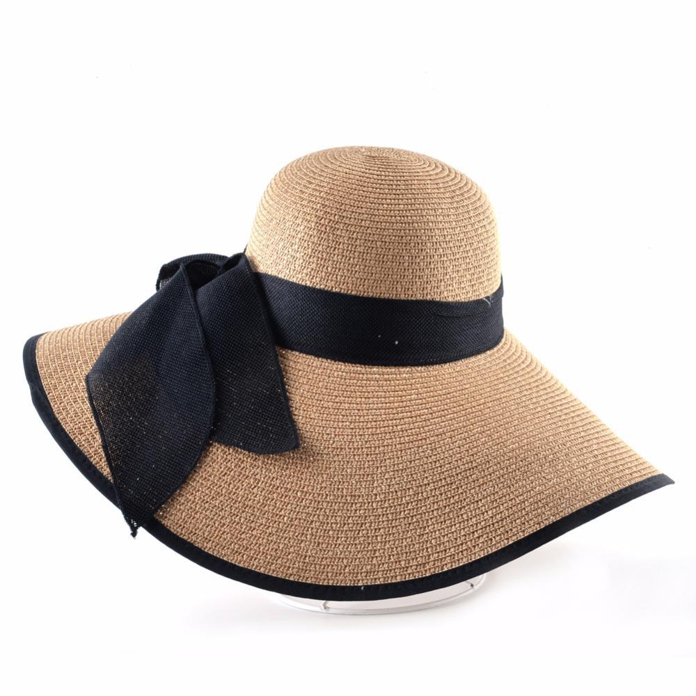 Compre Moda Chapéu De Palha Para As Mulheres Verão Ocasional Largo Aba Cap  Sol Com Arco Nó Senhoras Férias Praia Chapéus Big Visor Floppy Chapeau De  Dr nan 530b25c879d