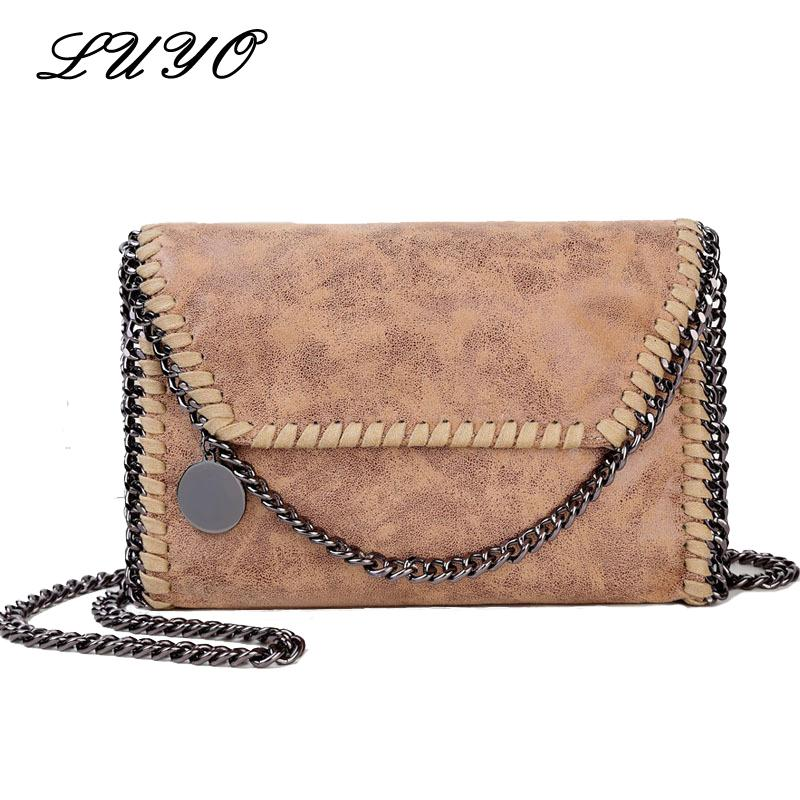 f62a77ffd517 Wholesale- Luyo Fashion Chain Small Women Leather Messenger Shoulder ...