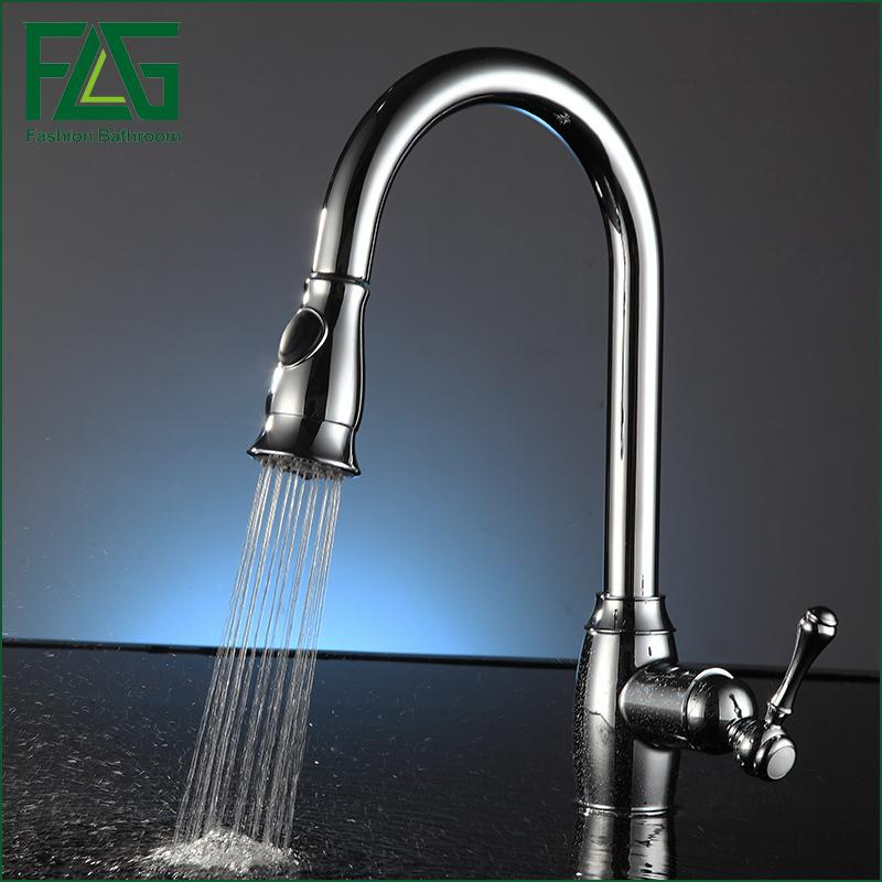 2019 flg pull out kitchen faucet chrome finished sink mixer tap rh dhgate com