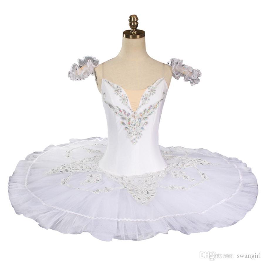 42c07c9a40ec 2019 Women White Swan Professional Ballet Tutu Classical Pancake Platter  Tutu Skirt Nutcracker Ballet Stage Costume BT8931F From Swangirl, $180.0 |  DHgate.