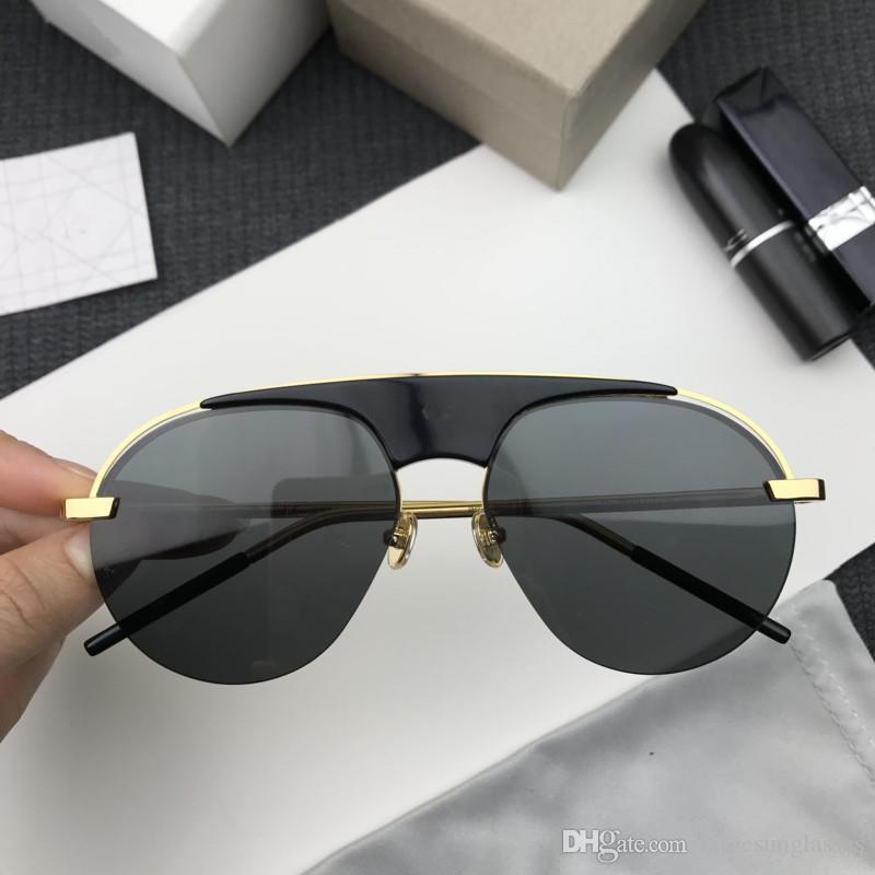 69820d497f Compre Dior Sunglasses Custom Nuevas Gafas De Sol Del Diseñador De Las  Mujeres De Alta Calidad De La Moda Marco Clásico Piloto Medio Marco Uv 400  Gafas De ...