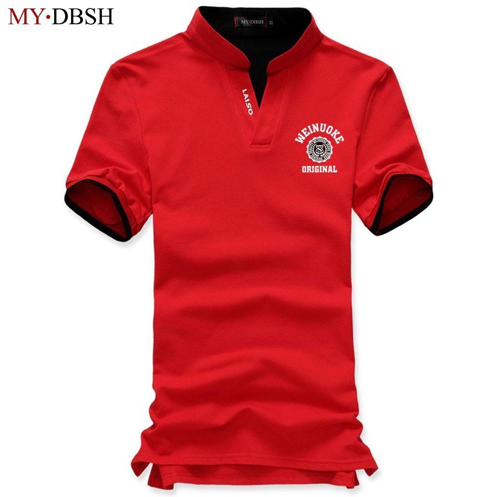 Weinuoke Originanal Letter Men Polo Shirt Mens