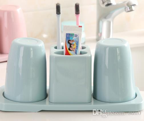 2018 new creative toothbrush rack wash set double mouthwash cup rh dhgate com