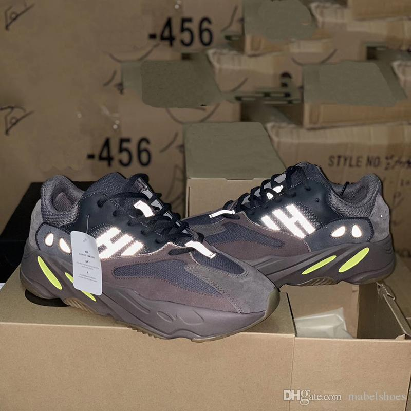 buy popular 0eb01 dc0be NEW 700 Wave Runner Mauve Run Shoes 2018 Kanye West Fashion Leading Brand  Designer Casual Sport Sneakers Size 36-45