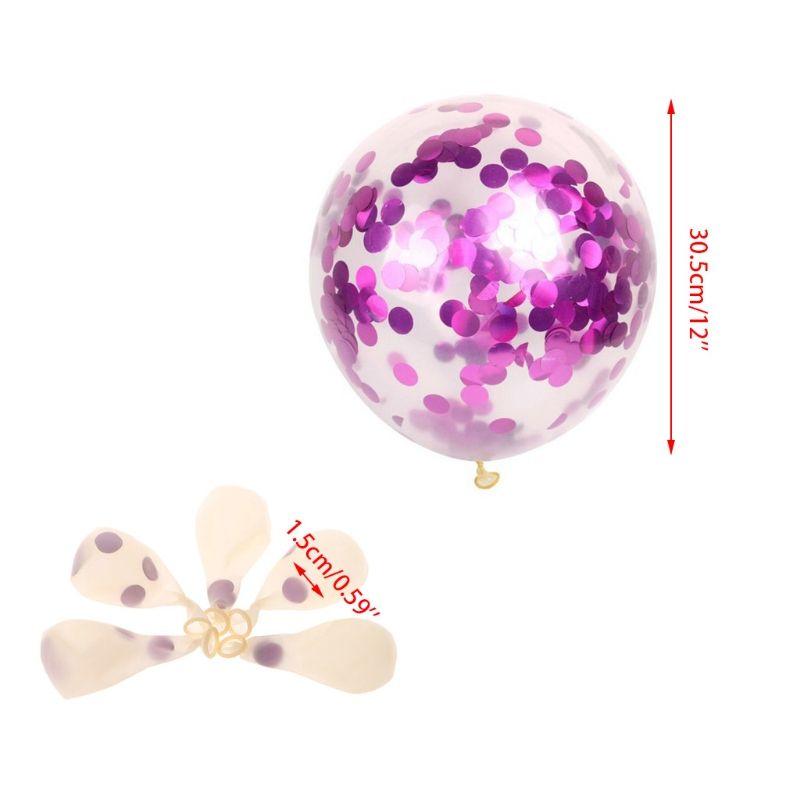 12 Zoll lila / Gold / Silber Konfetti Ballons gefüllt mit Multicolor Papier Hochzeit Party Decor
