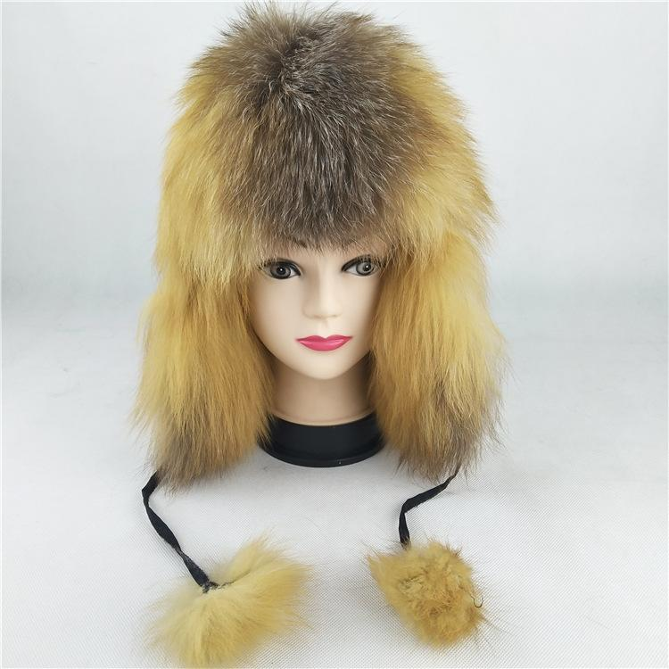 5769417611876 2019 69550 New Fashion Russian Hat Natural Fox Fur Hats Men And Women  Winter Hat Real Fur Bomber Hats From Heathere