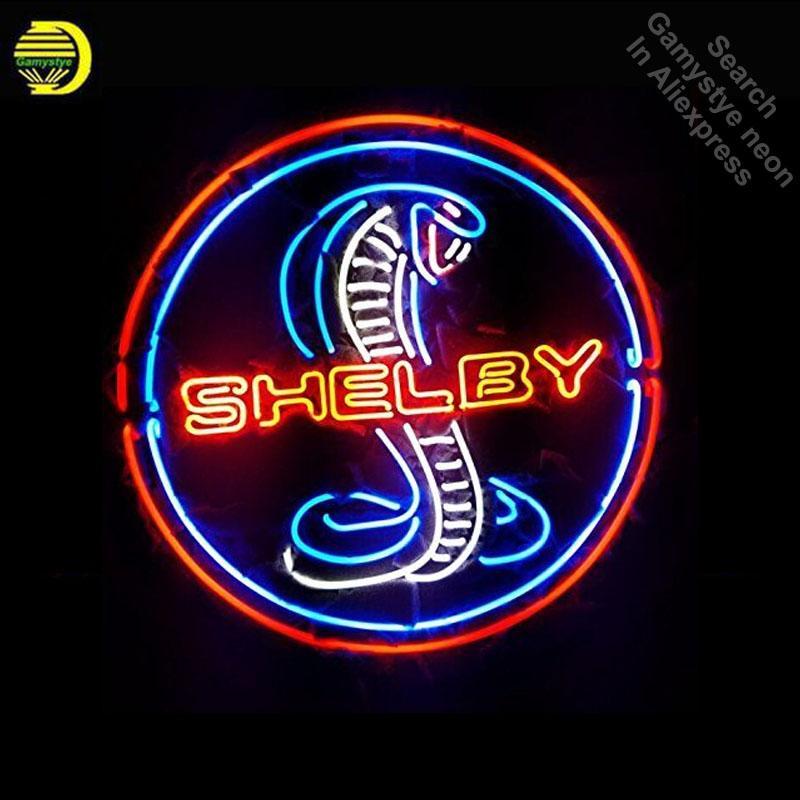 Acheter Cobra Shelby Neon Sign Ampoule Au Neon Signer Tube De Verre