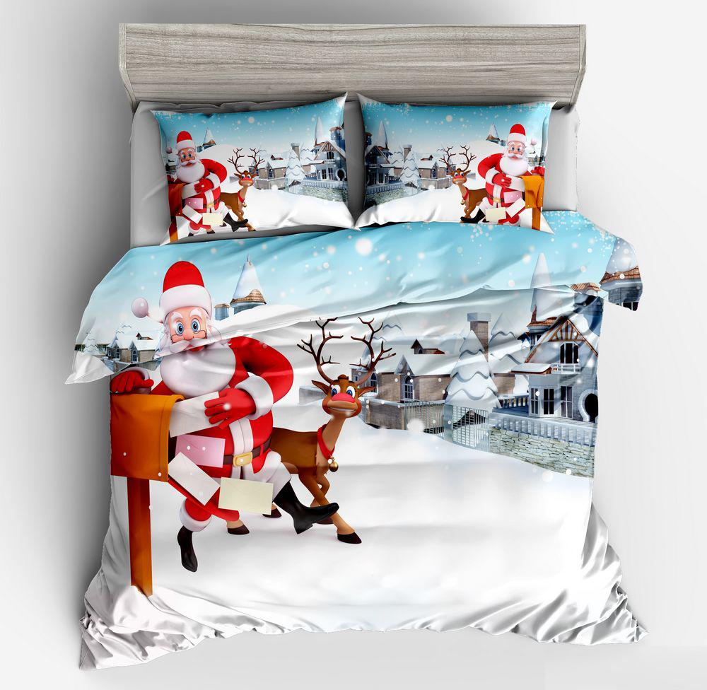 gifts for santa claus 3d duvet cover fitted pillowcases for boys rh dhgate com