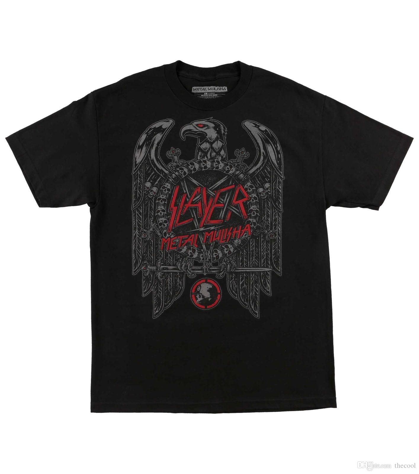 f91c8e6bccfe Authentic Top Tee Slayer Eagle Logo T Shirt Black S 2XL NEW Shirts Online T  Shirt Creator From Tshirmall, $10.68| DHgate.Com