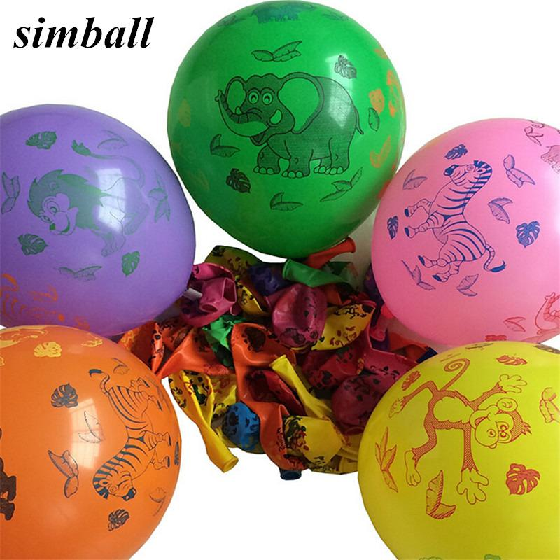 12 Inch Animal Printed Latex Balloons Decoration