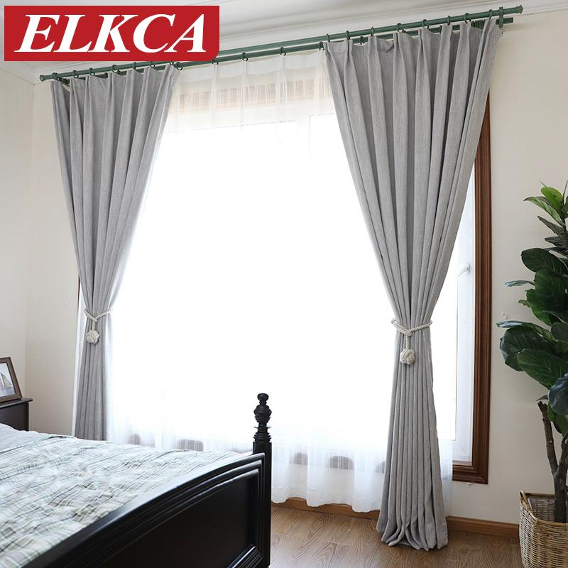 2018 American Solid Color Thick Faux Linen