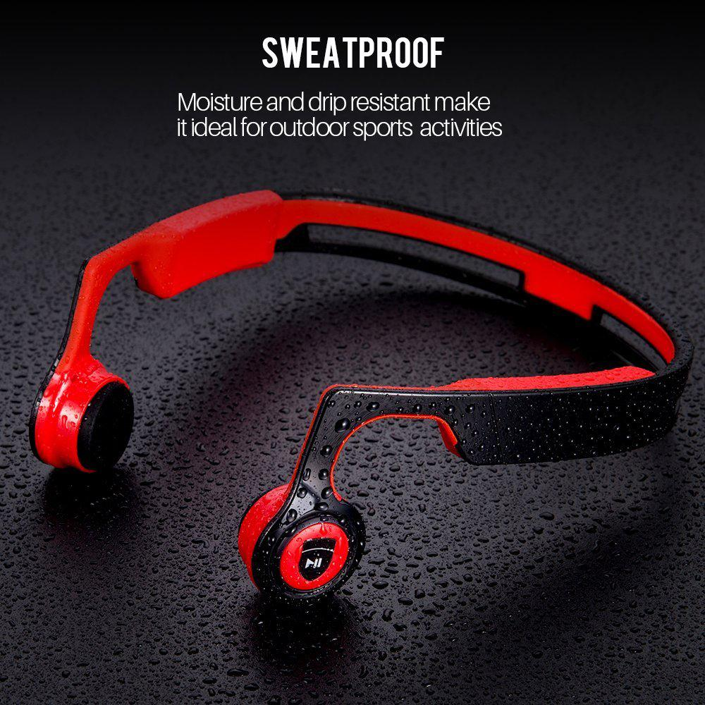 56bf6dae39f GANSS Ear Shield Bone Conduction Headphones Wireless Bluetooth Stereo  Headset Over Ear Sweatproof Earphone with Microphone for Sports Bone  Conduction ...