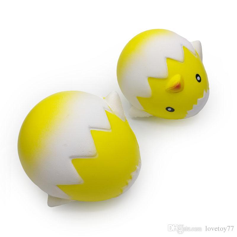 Squishy Big Kawaii Куриное яйцо Squishies Toys Jumbo Squeeze Cartoon Toy 11CM Медленно растущие большие детские подарки Игрушки