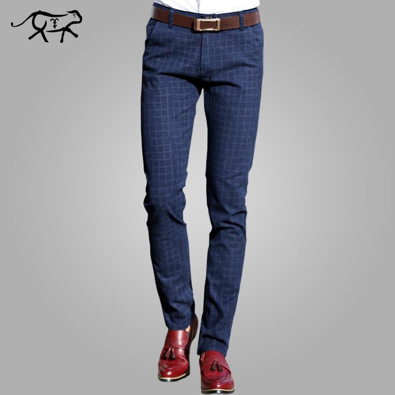 Compre 2018 Pantalones Nuevos Hombres Primavera Otoño Moda Slim Fit  Pantalones Casual Hombres Vestido Recto Traje De Negocios Pantalones De  Marca Para ... 465eae13ec27