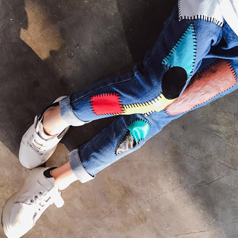 V-TREE Pantaloni delle ghette delle ragazze Pantaloni delle ragazze dei ragazzi Pantaloni operati la ragazza Bambini dei bambini Vestiti dei jeans 8 9 10 12 anni