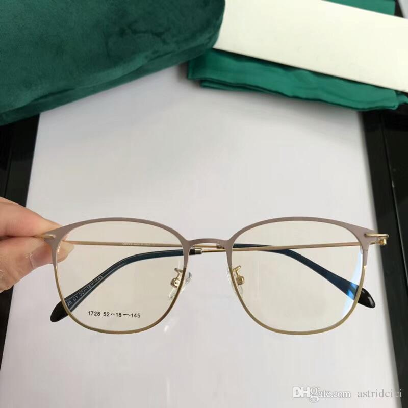 96a929c3b2 Luxury Women s Glasses Round Plain Transparent Mirror Frame Retro Men Women  Clear Lens Glasses Computer Eyeglasses Frame Anti-fatigue Goggle Luxury  Glasses ...