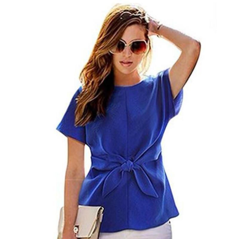 ea52cd94bf4f Großhandel 2018 Mode Frauen Kimono Bowknot Blusen Oansatz Kurzarm Shirts  Chiffon Lässige Vintage Tops Plus Größe Xxl Blusas Bluse Von Modeng02, ...