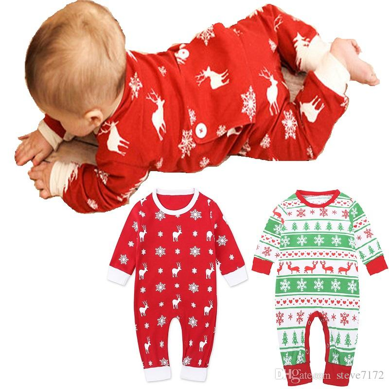 ef399756d 2019 Cute Christmas Newborn Clothes Baby Girl Rompers Pajamas 100 ...