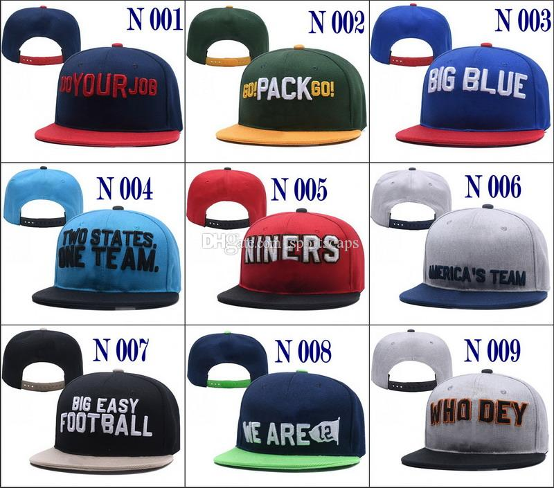 Wholesale College Football Snapback Hats 2018 New Draft Cap 32 Teams Hats  Mix Match Order All Caps In Stock Top Quality Hat Custom Fitted Hats Design  Your ... d6db6d78d21