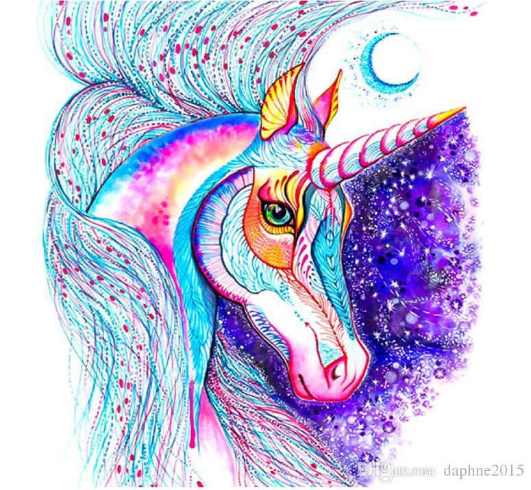 2019 Unicorn Full Drill Diamond Painting Kit Mosaic Wall Art Animal