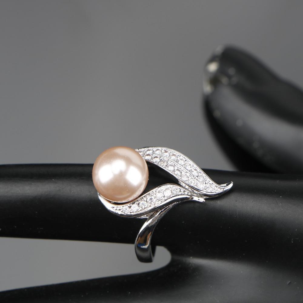 Natürliche Perle Silber 925 Modeschmuck Sets Frauen Schmuck Mit Zirkon Perlen Set von Ohrringe Anhänger Halsketten Ring Geschenkbox