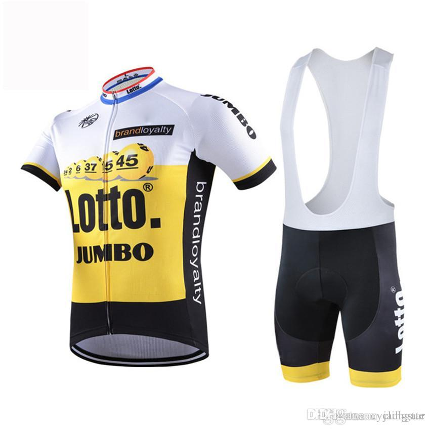 2017 Lotto Cycling Jersey Short Sleeves Summer Men Cycling Clothing+ Cycling  Bib Shorts Set Mtb Maillot Ropa Ciclismo Bike Clothes C0109 Cycling Jerseys  ... 868990e82