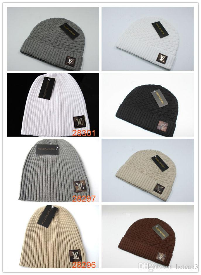 ff6ee4380e9 Cheap Unisex CC Trendy Hats Winter Knitted Fur Poms Beanie Label ...