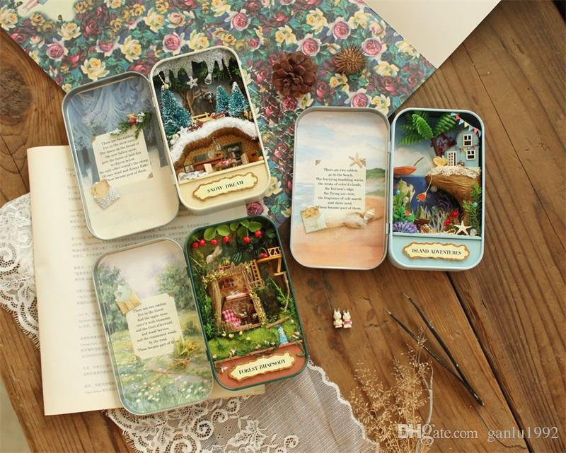 Diy Cute Room Handmade Box Theatre Forest Theme Mini Novelty Beautiful Dollhouse Miniature Boxes For Valentines Day Gifts 23wm Z