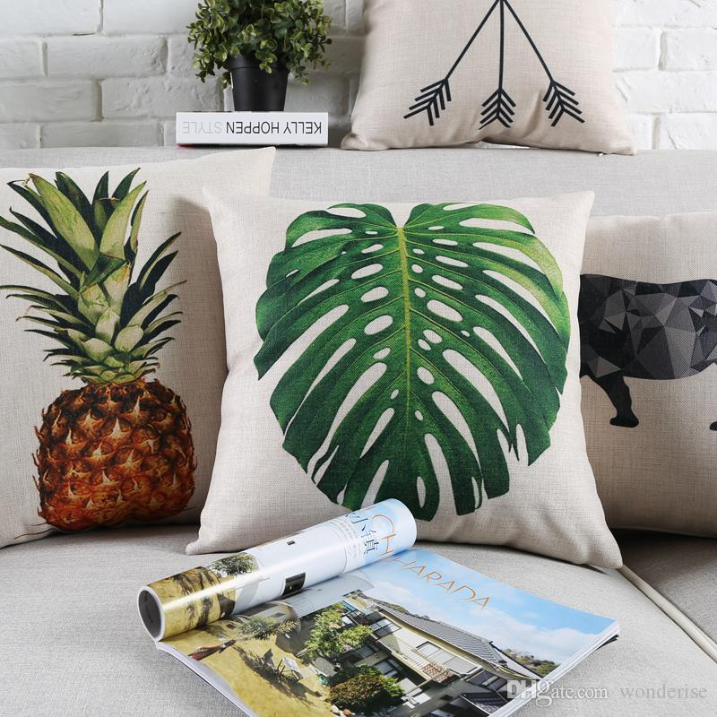 summer vibes pineapple monstera leaves cushion covers nordic rh dhgate com