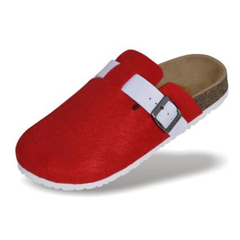 Yeni Kadın Mantar Ayakkabı Rahat Sandalet Flats Slaytlar kadın Kapalı Toe Sandalet Toka Terlik Artı Boyutu 36-44 Gri Siyah mavi