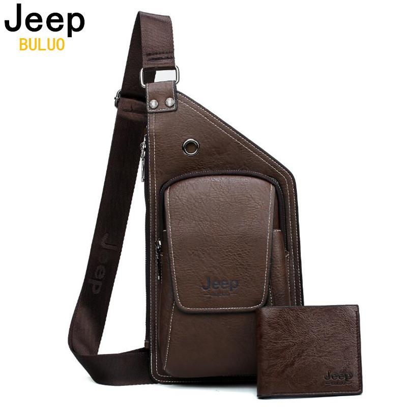 e2d03fdb4ab BULUO Brand Men Chest Bags Set Summer Travel Sling Bag For Man Split Leather  Corssbody Bag High Quality Male Bags Crossbody Bags Cheap Crossbody Bags  BULUO ...