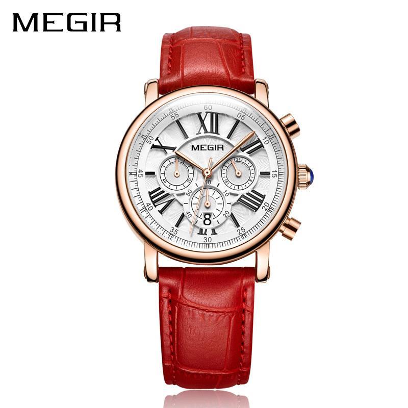 7d6780d5d191 Compre Megir Moda Mujer Pulsera Relojes De Primeras Marcas De Lujo Para  Mujer Reloj De Cuarzo Reloj Para Los Amantes Relogio Feminino Relojes  Deportivos A ...