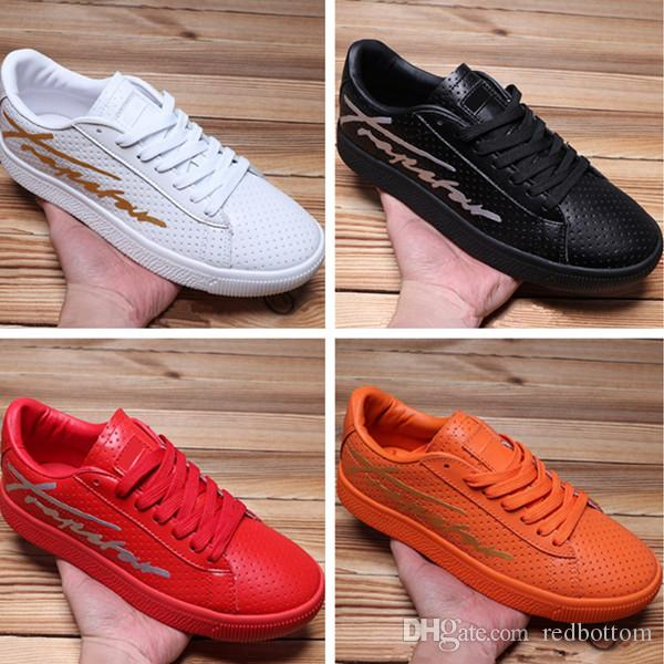 discount Free Shipping Clydy Perforated Trapstar Running Shoes Mens Womens Leather Sneakers store sale buy cheap footaction f8fsc2