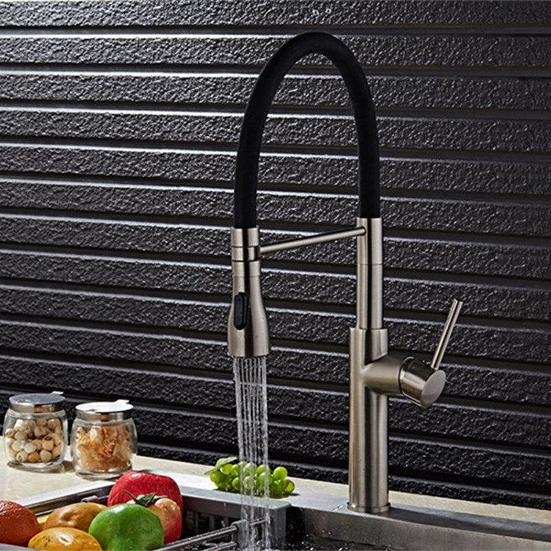 2019 chrome plated brushed nickel water tap pull out kitchen faucet rh dhgate com