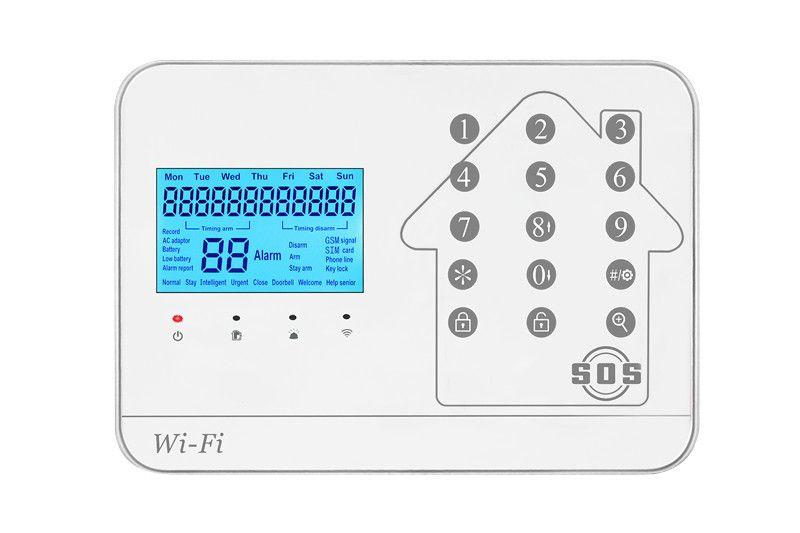 2018 99CS WIFI GSM SMS Home Burglar Security Alarm Systems PIR Motion detector Touch Screen Alarm Panel APP Control Sensor Alarm