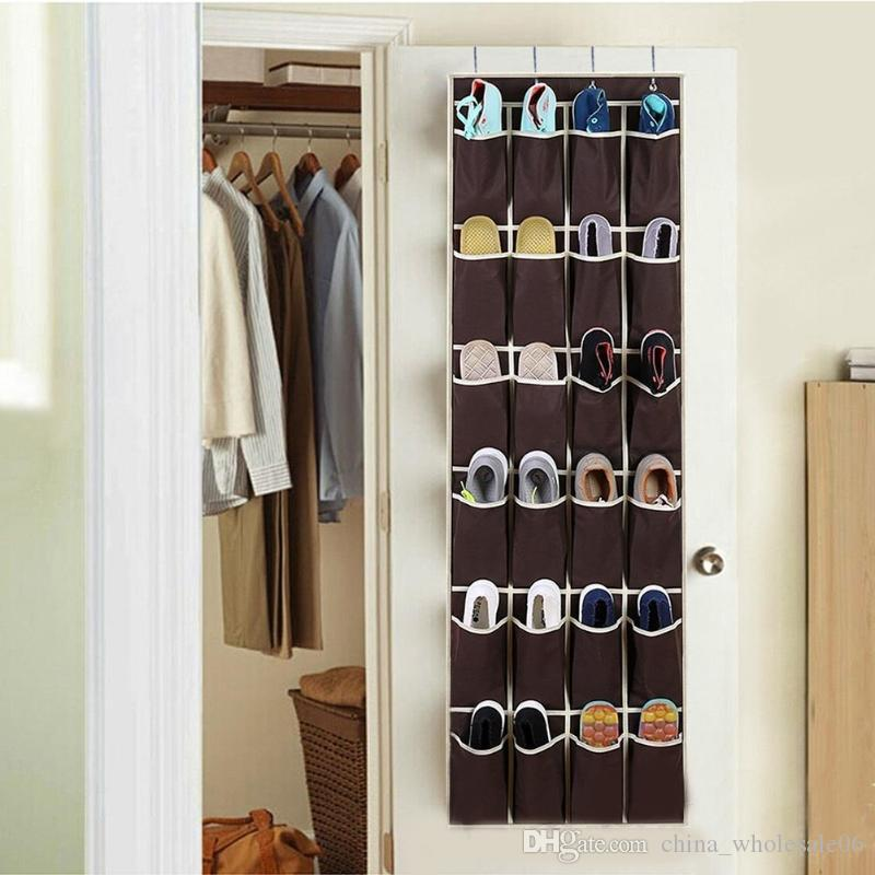 Best 20 Pockets Shoe Organizer Door Wall Shoes Organizer Space Saver Rack  Non Woven Wardrobe Closet Hanging Storage Bag Under $6.19 | Dhgate.Com