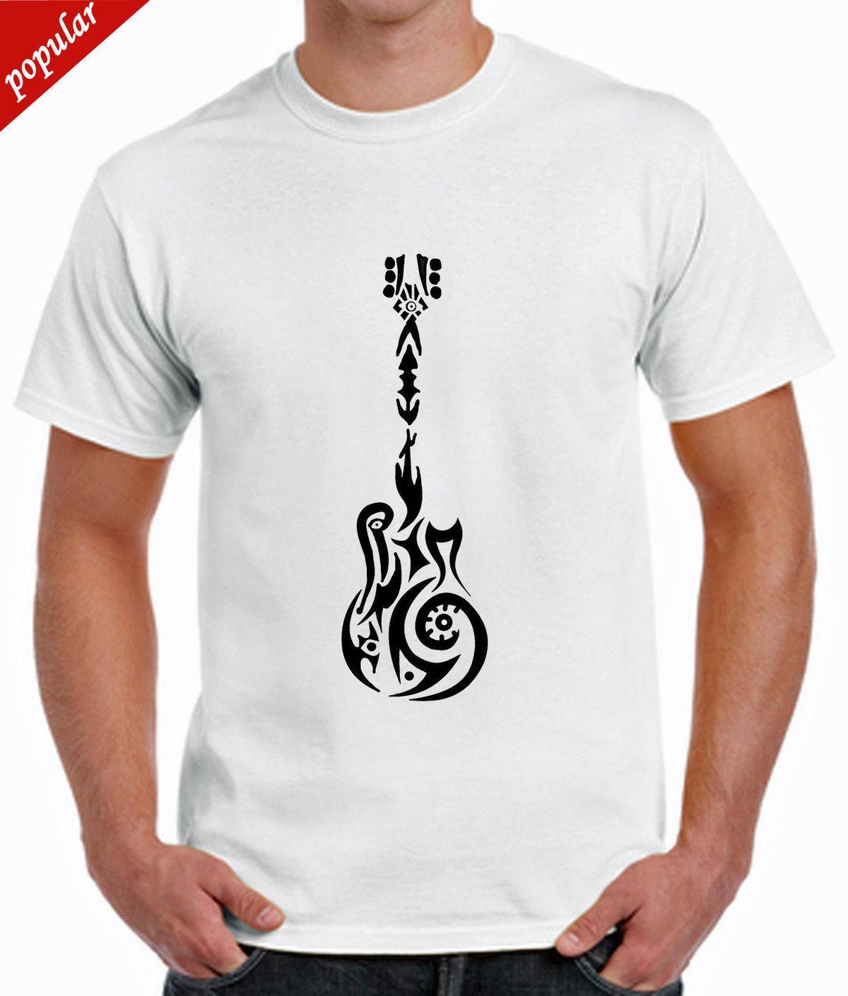 3bb3bfb2fdaf4 Compre Guitarra Guitarra Camiseta Moda Azteca Música Eléctrica Ropa Rock  Cool Barato A  11.0 Del Customteemall