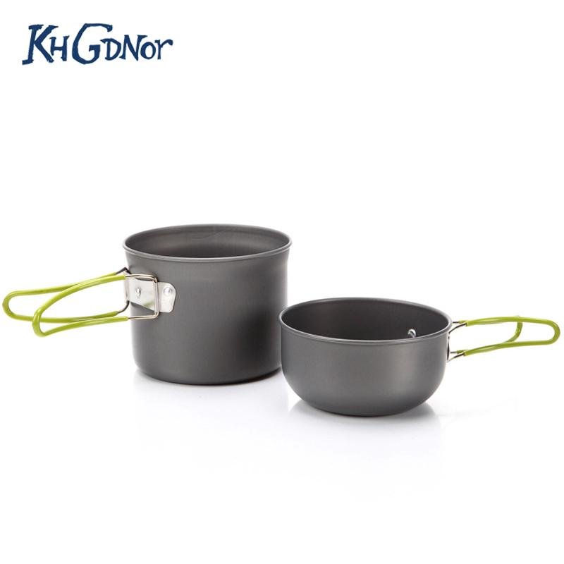 0fc8cb24460 Camping Cookware Set Outdoor Aluminum Pot Pan Bowl With Foldable Handle  Portable Nonstick Pot Set Set Of Pots And Pans Set Of Pots And Pans  Stainless Steel ...