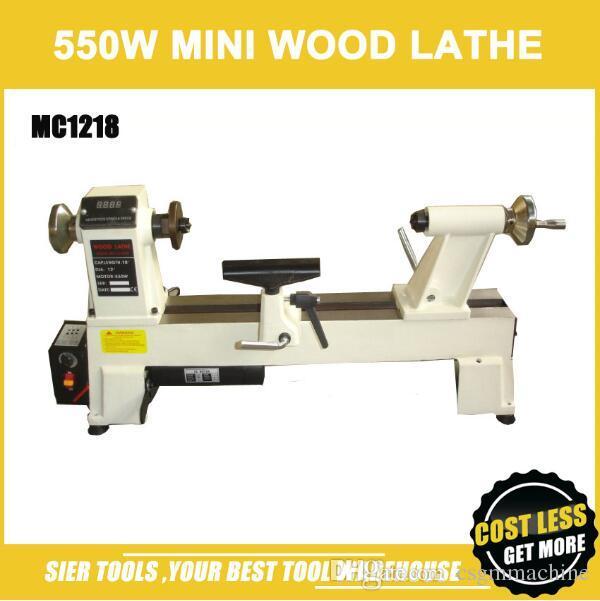 MC1218 Wood Lathe/550W 450mm Mini Lathe/Digital Display/Variable speed  adjustable/DIY wood lathe machine