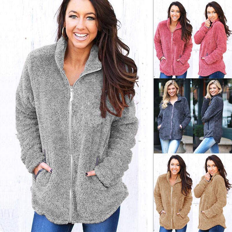 Elegant Faux Fur Coat Women 2018 Autumn Winter Warm Soft Zipper Fur Jacket  Female Fashion Plush Overcoat Casual Outerwear Online with  39.49 Piece on  ... a1a55b2f71af