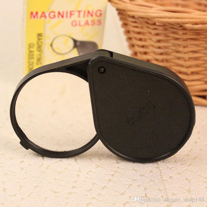 Mini lente d'ingrandimento portatile Migliore promozione per lente d'ingrandimento tascabile lente da 60 mm Ingrandimento 10x Lettura viaggio Gioielli Orologio Strumento di riparazione