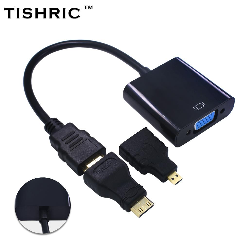 tishric mini micro connectors for hdmi to vga cable adapter male to rh dhgate com