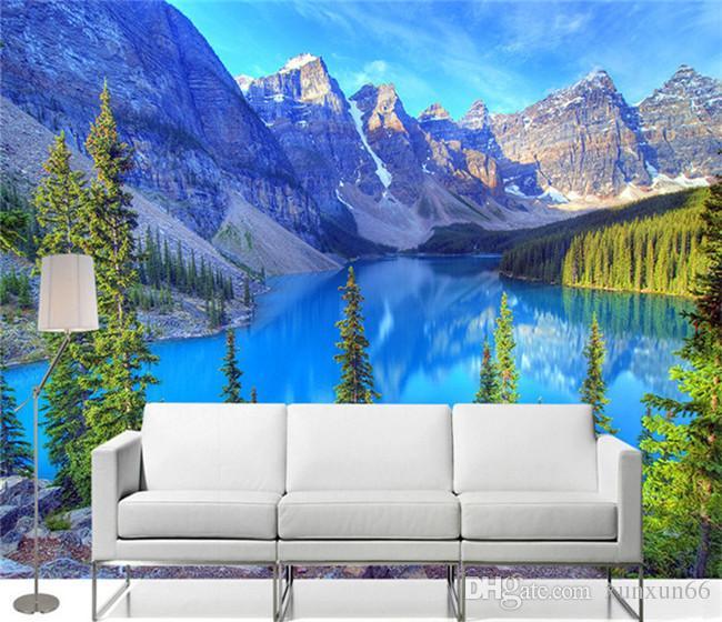 custom 3d photo wallpaper room mural mountain peak park landscape rh dhgate com